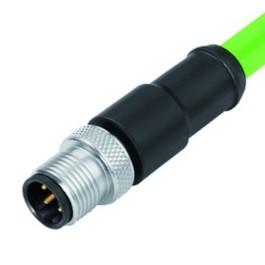Binder Serie 876 Kabelstecker mit Kabel und D-Kodierung