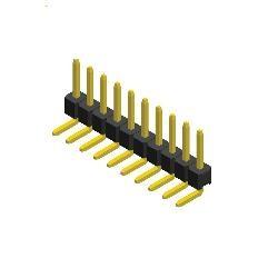 Stiftleiste R 2,54 1-reihig gewinkelt 3,5mm