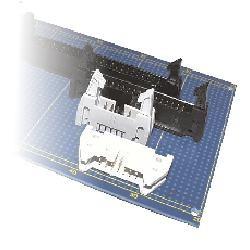 Flachkabel-Stiftwanne R2,54 gerade DIN 41651, kurze Hebel