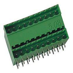 Stiftstecker PDHxx-5,08, 2-stöckig horizontal Raster 5,08 mm geschlossen