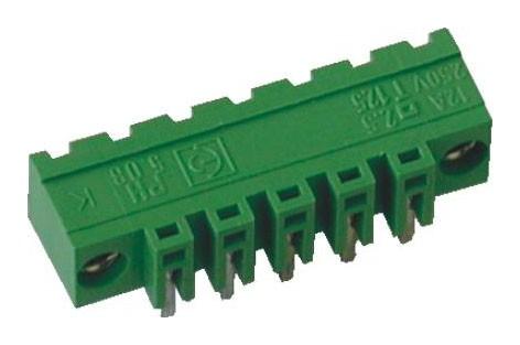 Stiftstecker PVxx-5,08-H-K, horizontal Raster 5,08 mm, Schraubflansch, geschlossen