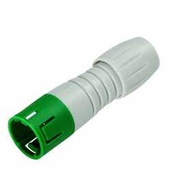 Binder Kabelstecker grün-grau Serie 720