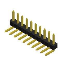 Stiftleiste R2,00 1-reihig gewinkelt 4,0mm
