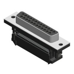 Flachkabelsteckverbinder mit Zugentlastung, UNC 4-40